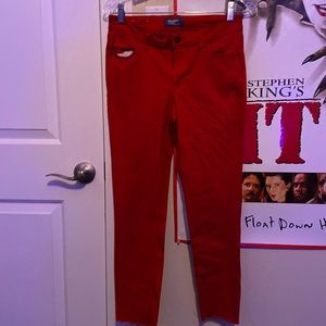 red rockstar jeans from old navy